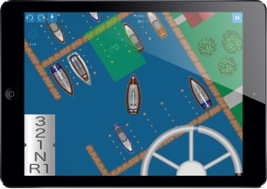 Screenshot: Parken in der Box mit der Segelyacht
