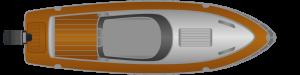 Hilfe beim Anlegen: Motorboot mit Außenborder