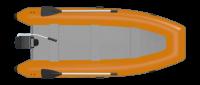 Hilfe beim Anlegen: Schlauchboot mit Außenborder