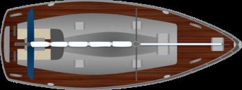 Hilfe beim Anlegen: Segelyacht mit Motor und Ruder
